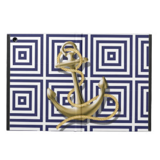 Navy Blue pattern anchor nautical iPad Air Cases