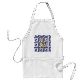 navy blue pattern nautical anchor preppy apron