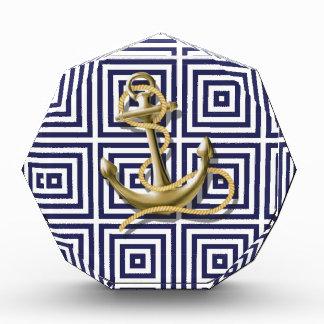 navy blue pattern nautical anchor preppy award