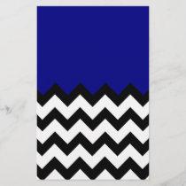 Navy Blue Pattern On Large Zigzag Chevron
