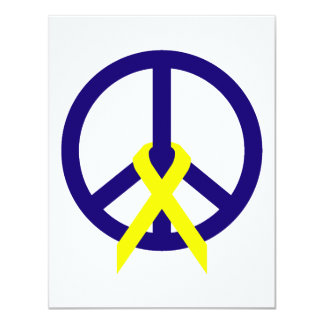 Navy Blue Peace & Ribbon Card