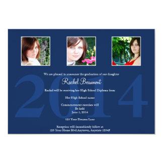 Navy Blue Photo Graduation Announcement