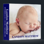 """Navy Blue Photo Personalized Binder Album<br><div class=""""desc"""">Show off your memory&#39;s in a fun way with this photo binder album. Customize with your favorite picture.</div>"""