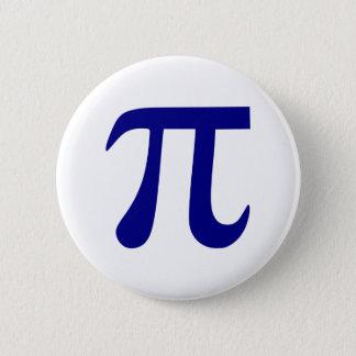 Navy Blue Pi Symbol Button