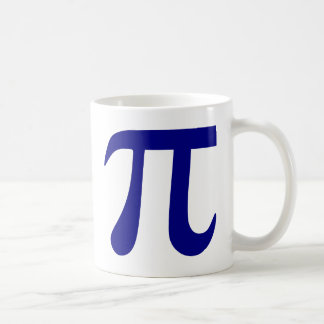 Navy Blue Pi Symbol Coffee Mug