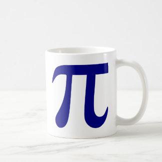 Navy Blue Pi Symbol Classic White Coffee Mug