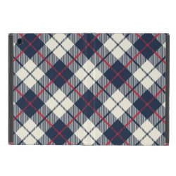 Navy Blue Plaid Pattern Covers For iPad Mini