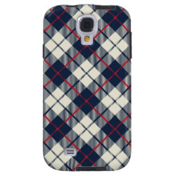 Navy Blue Plaid Pattern Galaxy S4 Case