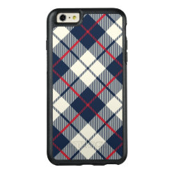 Navy Blue Plaid Pattern OtterBox iPhone 6/6s Plus Case