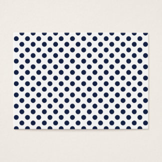 Navy Blue Polka Dot Business Card