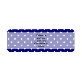 Navy blue polka dot pattern label