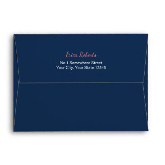 Navy Blue Pre-Addressed 5X7 Envelope