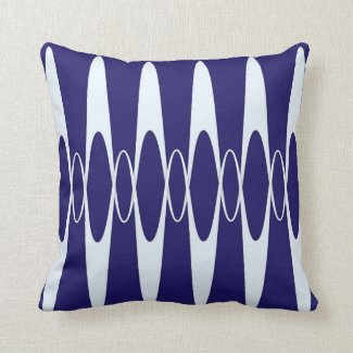 Navy Blue Pulse Pillows