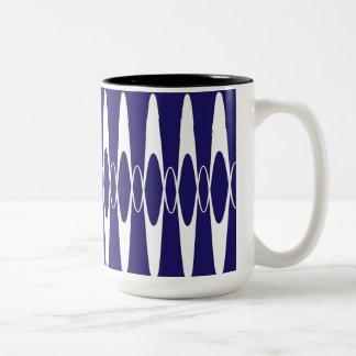 Navy Blue Pulse Two-Tone Coffee Mug