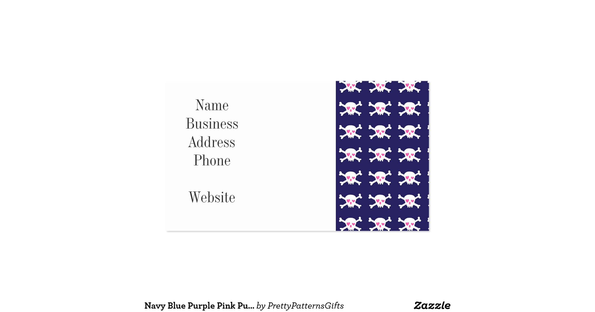 Double Sided Business Card Template | Business Card Sample