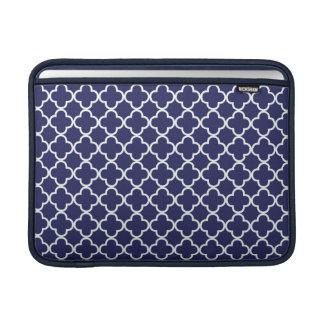 Navy Blue Quatrefoil MacBook Air Sleeve