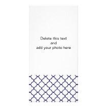 Navy Blue Quatrefoil Pattern Card