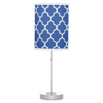 Navy Blue Quatrefoil pattern Desk Lamp