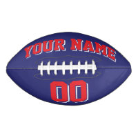 NAVY BLUE RED AND WHITE Custom Football