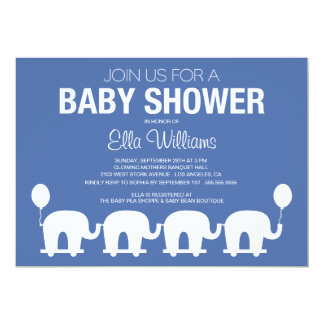 NAVY BLUE RETRO CIRCUS | BABY SHOWER INVITATION