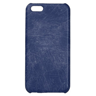 Navy blue Retro Grunge Scratched Texture Case For iPhone 5C