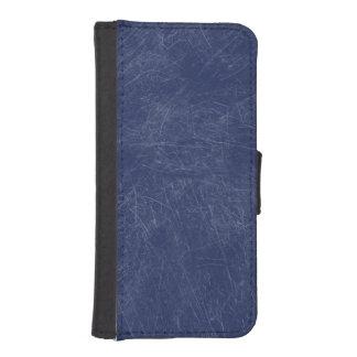 Navy blue Retro Grunge Scratched Texture iPhone 5 Wallet Case