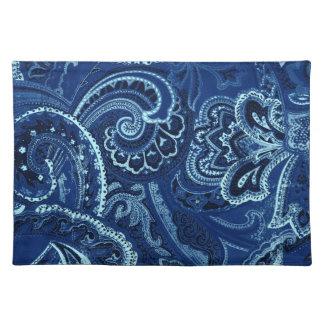 Navy Blue Retro Paisley Bandanna/Bandana Cloth Placemat