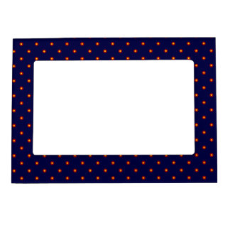 Navy Blue Retro Print Frame