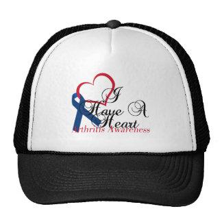 Navy Blue Ribbon Have A Heart Arthritis Awareness Trucker Hat