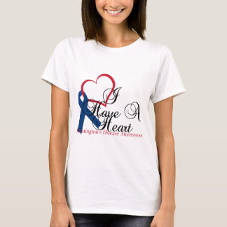 Navy Blue Ribbon Huntington's Disease Awareness T-Shirt