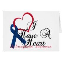 Navy Blue Ribbon Hydrocephalus Awareness Card