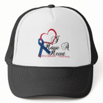 Navy Blue Ribbon Hydrocephalus Awareness Trucker Hat