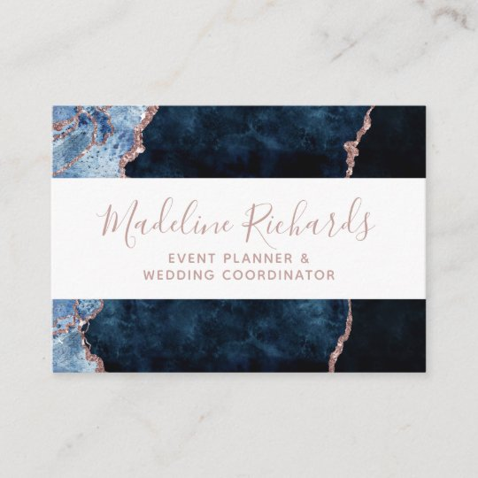 Navy blue rose gold watercolor marble agate gilded business card navy blue rose gold watercolor marble agate gilded business card colourmoves