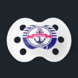"""Navy Blue Rustic Nautical Stripes Baby Pacifier<br><div class=""""desc"""">Navy Blue Rustic Nautical Stripes Baby Pacifier</div>"""