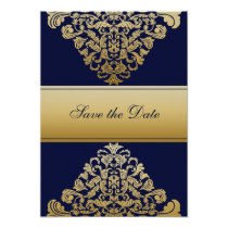 """navy blue"" save the date announcement"