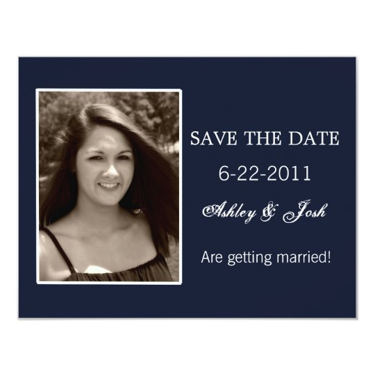 Navy Blue Save The Date Invites