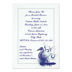Navy blue seahorse on ivory wedding bridal shower 5