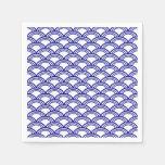 Navy Blue Seigaiha Pattern Disposable Napkin