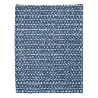 Navy Blue Shibori Geometric Tessellation Duvet Cover at Zazzle