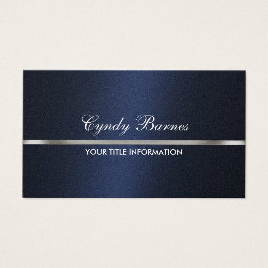 Navy blue shimmer with silver business card zazzle navy blue shimmer with silver business card colourmoves