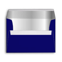 Navy Blue Silver Inner Envelope