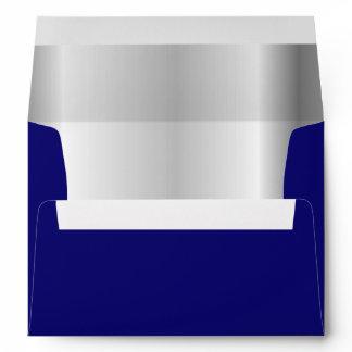 Navy Blue Silver Inner Envelope