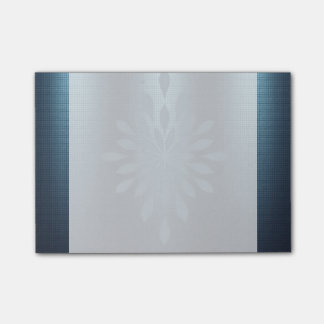 Navy blue silver metallic look floral embellished post-it® notes