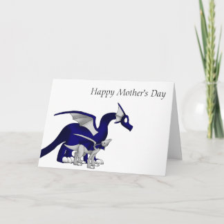 Navy Blue/Silver Mother and Child Dragons 1 Card