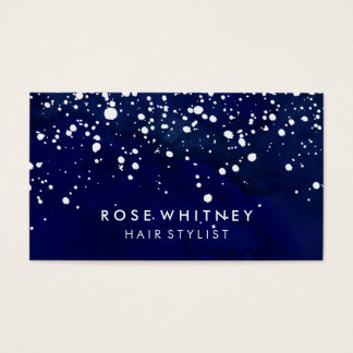 Navy Blue Snow Creative Business Card