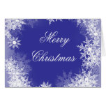 Navy Blue Snowflake Christmas Cards