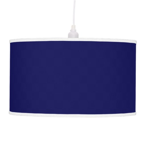 Navy Blue Solid Color Ceiling Lamps Zazzle