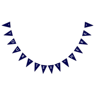 Navy Blue Solid Color Customize It Bunting Flags