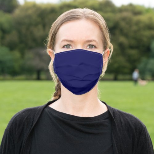 Navy Blue Solid Color Customize It COVID19 Cloth Face Mask