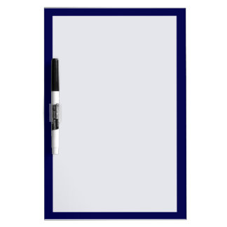 Navy Blue Solid Color Customize It Dry-Erase Board